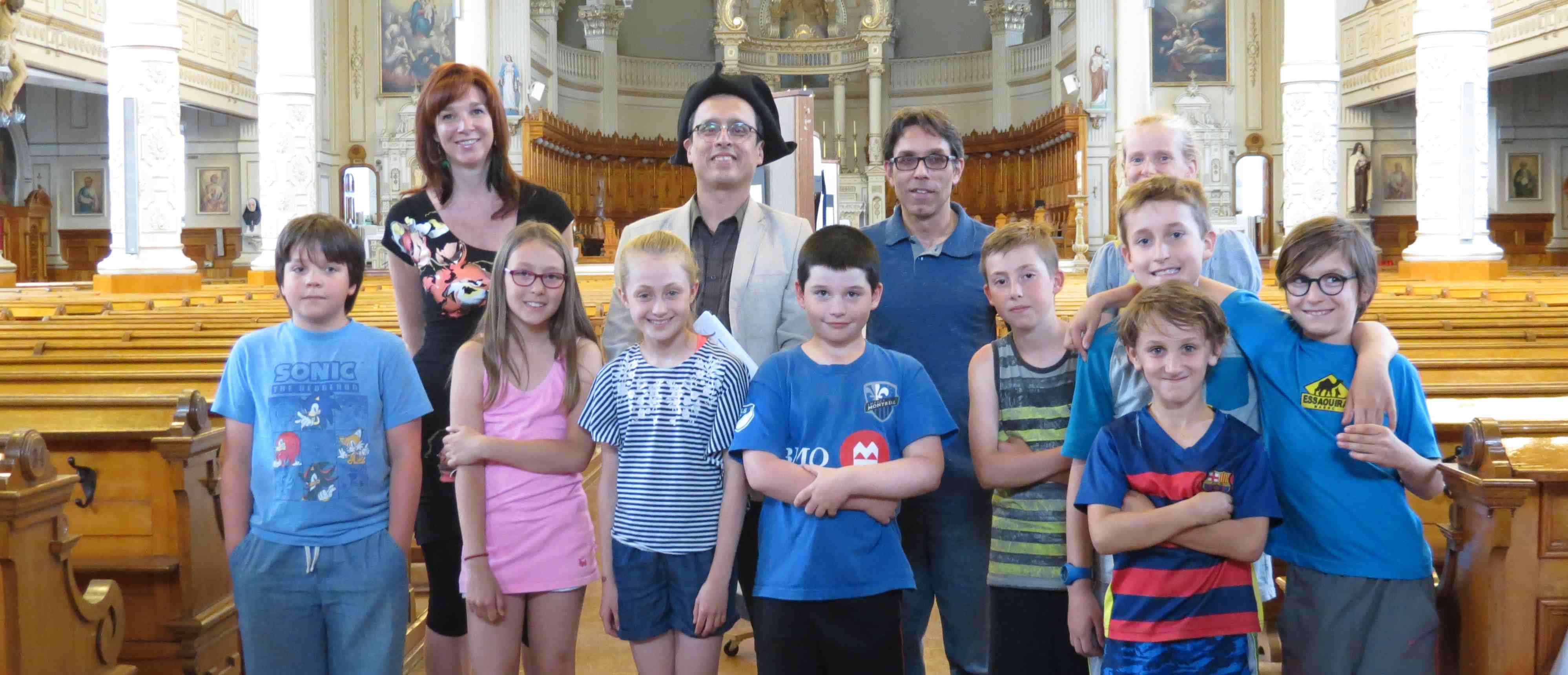 projet Identité et patrimoine, vernissage, écoles primaire Saint-Louis-de-France
