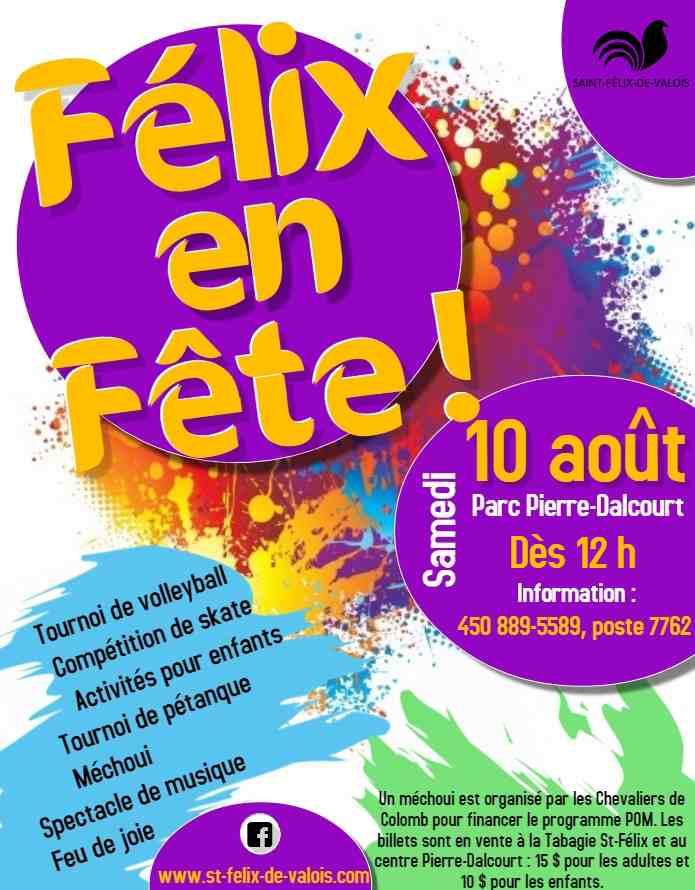 Félix en Fête, parc Pierre-Dalcourt, activités, générations