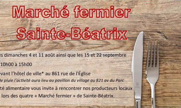 Deuxième édition du Marché Fermier de Sainte-Béatrix