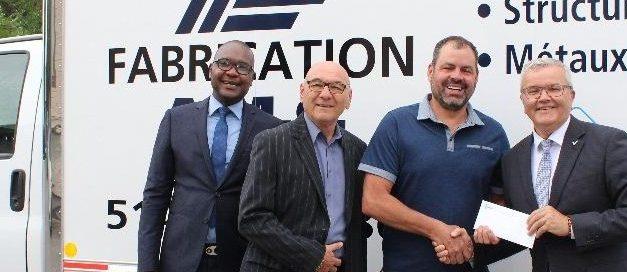 LA MRC de Matawinie octroie 28 000 $ À FABRICATION A.M.C. une entreprise en pleine émergence