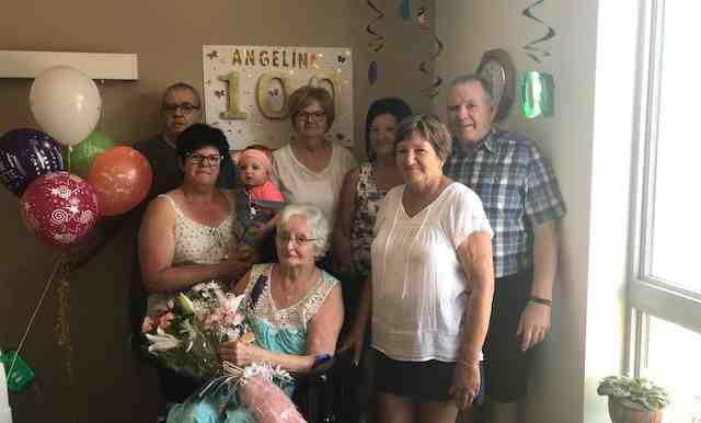 Le Centre d'hébergement Sylvie-Lespérance souligne le 100e anniversaire d'une résidente
