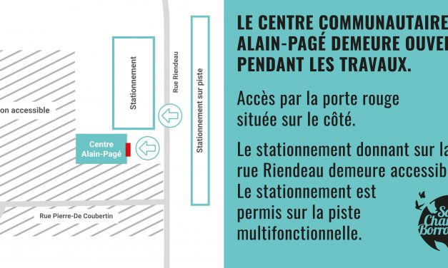 Stationnement et accès modifiés au centre communautaire Alain-Pagé pour l'automne
