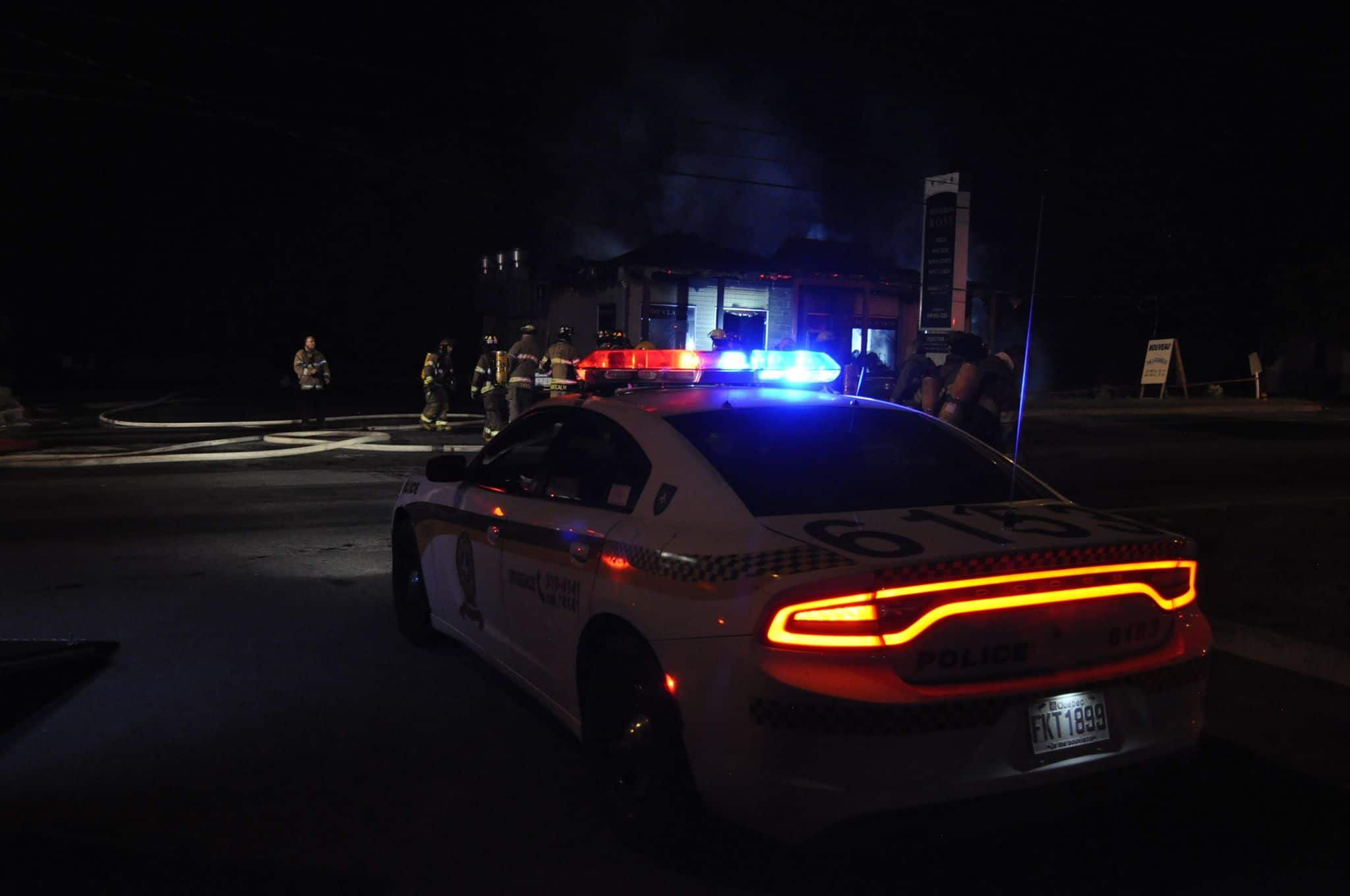 Sainte-Julienne, restaurant Rose, incendie suspect