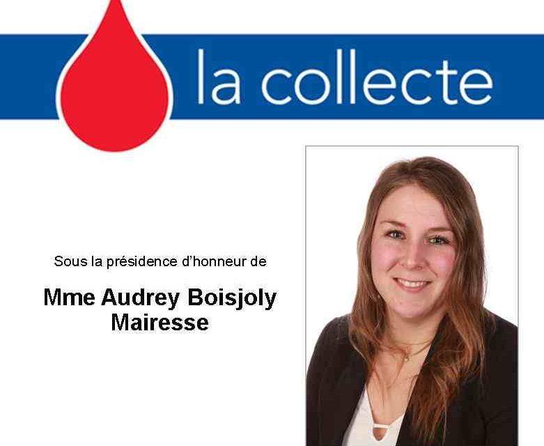 Collecte de sang de la mairesse
