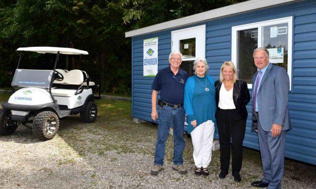 Inauguration de nouveaux terrains de camping au Parc régional des Chutes Monte-à-Peine-et-des-Dalles