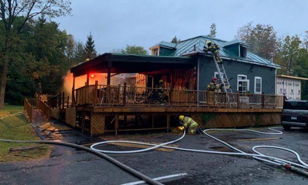 Incendie au Café Culturel de la Chasse-Galerie à Lavaltrie