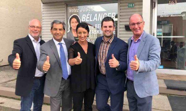 Ouverture du local électoral de Josée Bélanger, candidate du Parti conservateur dans Berthier-Maskinongé