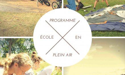 Lancement du Programme des Écoles en plein air 2019-2020