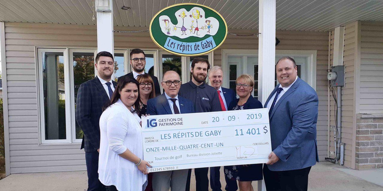 Le troisième tournoi de golf des Services Financiers IG Gestion de Patrimoine récolte 11 401$