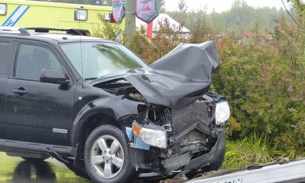Accident impliquant deux véhicules sur la route 131