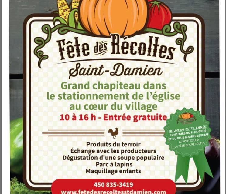 Neuvième édition de la Fête des Récoltes de St-Damien