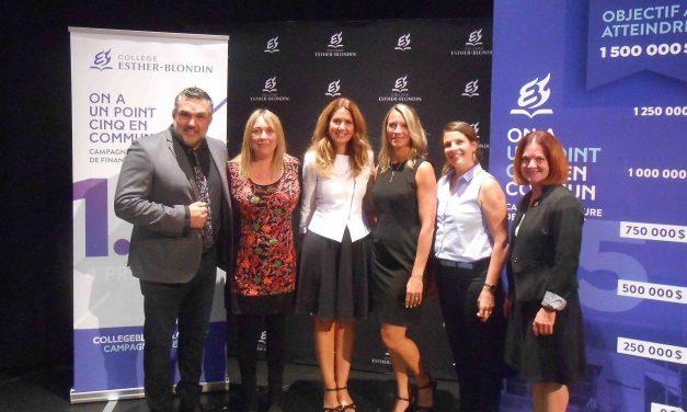 Une première campagne de financement majeure pour le Collège Esther-Blondin