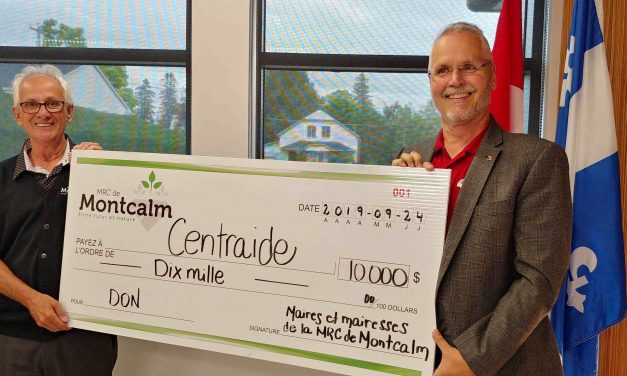 Les profits de la 30e édition de l'omnium de golf des maires et mairesses de la MRC de Montcalm remis à Centraide Lanaudière