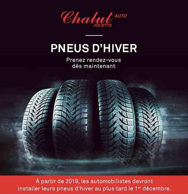 C'est la saison de l'installation des pneus d'hiver