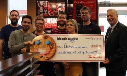 Près de 41 000$ pour la campagne du biscuit sourire