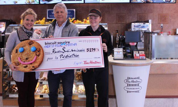 La campagne annuelle du Biscuit SourireMC de TIM HORTONS® amasse une somme record !