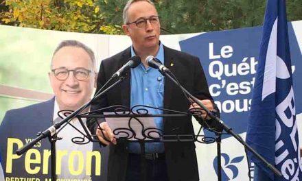 « Être authentique  et défendre vos valeurs et vos aspirations  à Ottawa : voilà ce que j'ai à vous offrir » — Yves Perron
