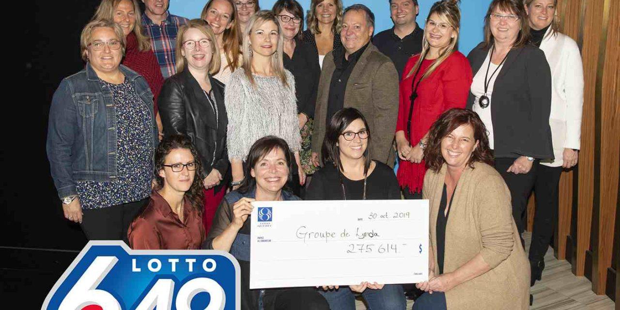 Plusieurs collègues se partagent un lot du Lotto 6/49
