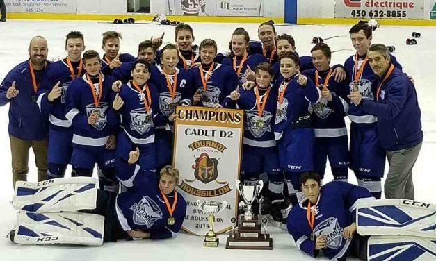 L'or pour l'équipe de hockey cadette de la polyvalente Thérèse-Martin