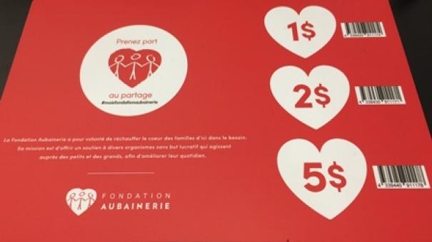 Une cinquième édition pour la collecte de dons à la caisse de la Fondation Aubainerie