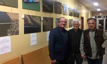 Vernissage d'une exposition de l'Organisme des bassins versants de la Zone Bayonne