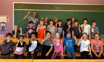 Les collations santé du jardinier à l'école primaire Sainte-Anne de Saint-Cuthbert