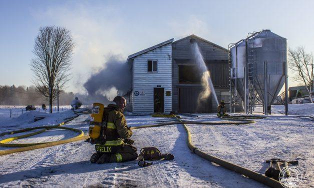 Incendie de poulailler à Saint-Félix-de-Valois