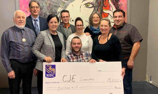Philanthropie Lanaudière et la Fondation RBC annonce la remise d'une subvention de 15 000 $ au Carrefour jeunesse emploi Lanaudière