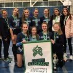 Les Libellules cadettes championnes à Saint-Lambert