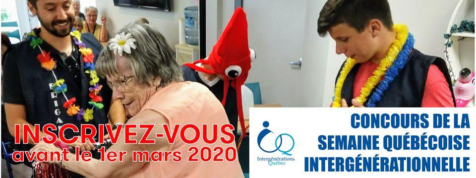 Lancement du concours de la Semaine québécoise intergénérationnelle 2020!
