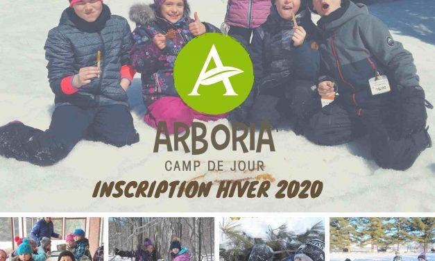 Camp de jour Arboria – Inscriptions hiver 2020