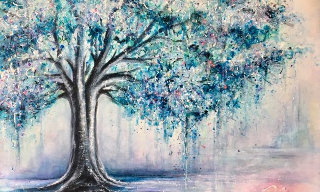 « Entre ciel et terre » Exposition de peinture de Cynthia Clermont, présentée à la Bibliothèque municipale de Lavaltrie