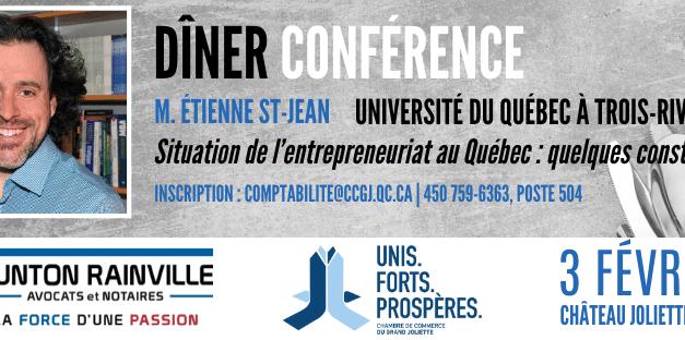 La CCGJ accueillera M. Étienne St-Jean de l'UQTR
