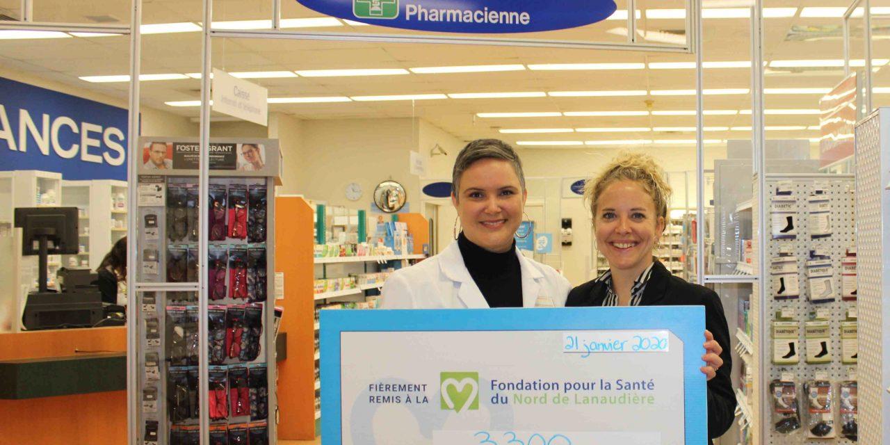 Les Pharmaprix du Grand Joliette recueillent 3 300 $ pour la Fondation pour la Santé avec la campagne Aimez. Vous.
