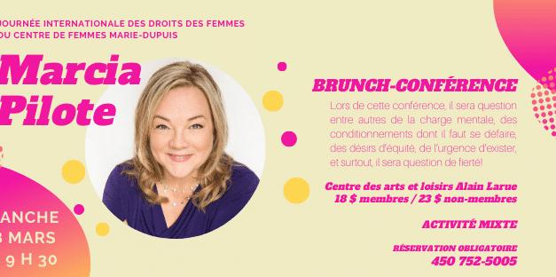 Brunch-conférence avec Marcia Pilotte