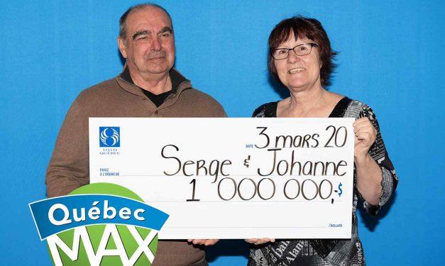 1 000 000 $ : un couple lanaudois devient millionnaire grâce au Québec Max