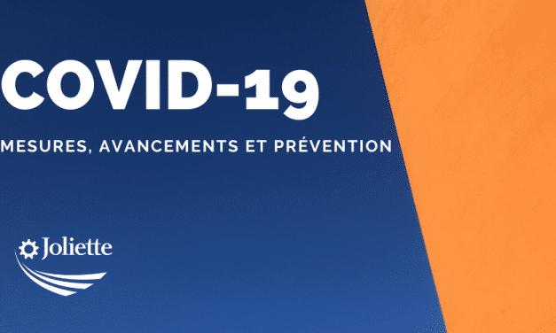 Mesures additionnelles – Covid-19 – Fermeture de tous les bâtiments municipaux de la Ville de Joliette