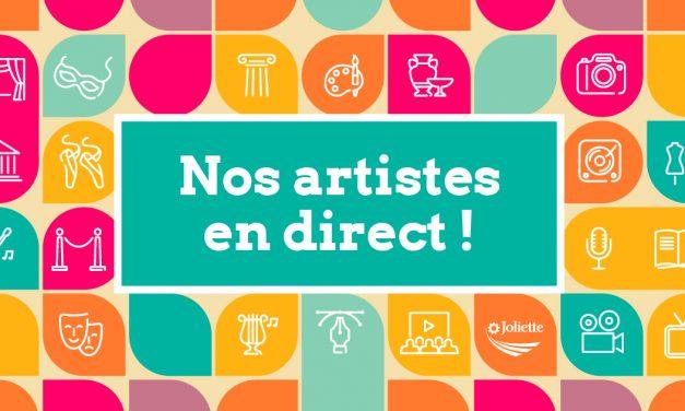 Nouveaux rendez-vous virtuels – Nos artistes en direct!
