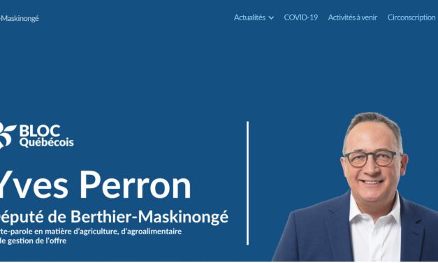 Yves Perron procède au lancement de son site Internet