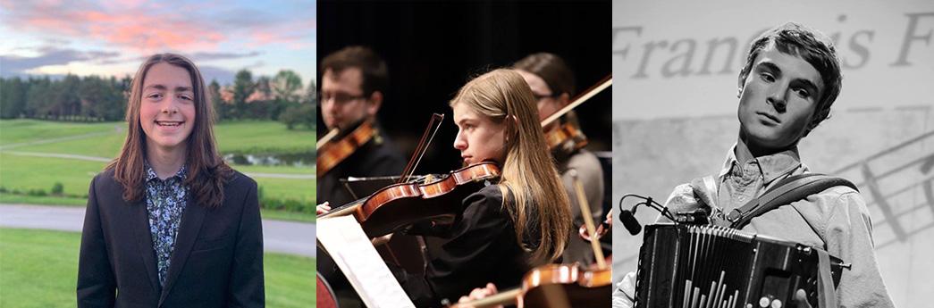 Victor Renaud, Emma Poulin et François-Félix Roy reçoivent les bourses académiques du département de Musique
