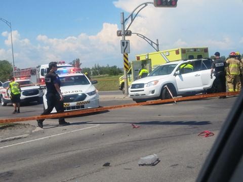 Accident impliquant deux véhicules à Saint-Paul-de-Joliette
