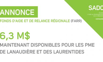 6,3 M$ pour les PME de Lanaudière et des Laurentides