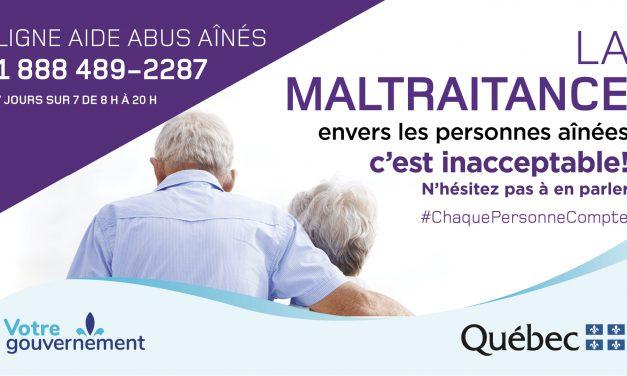 15 juin 2020 – Journée mondiale de lutte contre la maltraitance envers les aînés