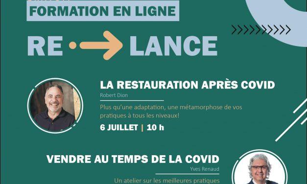 La CCGJ et la CDÉJ présentent Re»LANCE, une série de webinaires gratuits pour les entrepreneurs