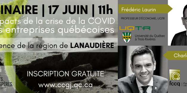 Étude d'impact de la COVID sur les entreprises québécoises : la résilience de la région de Lanaudière