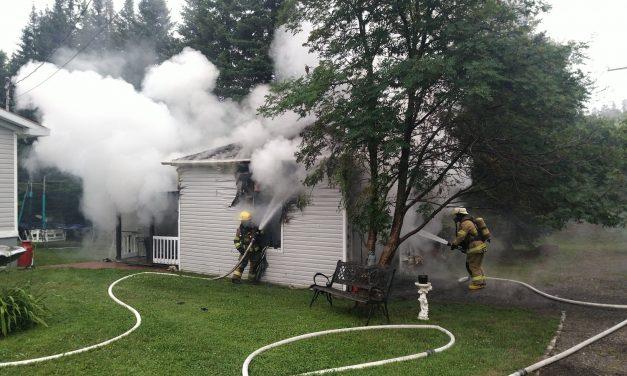 Incendie de garage à Saint-Gabriel-de-Brandon
