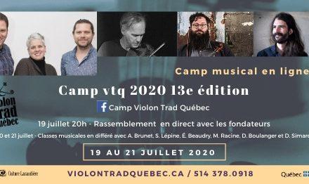 Camp Violon Trad Québec – 13e édition réinventée en ligne du 19 au 21 juillet!