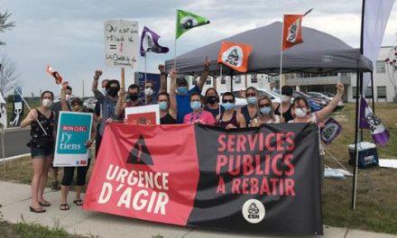 En appui à la négociation de leurs conditions de travail, les syndiqué-es CSN du CISSS de Lanaudière ne se donnent aucun répit cet été