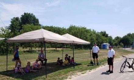 La SQ visite le camp de jour à Sainte-Élisabeth