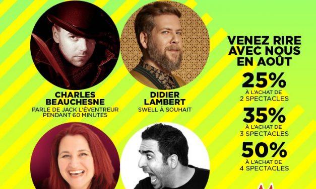 Quatre spectacles d'humour en août au Centre Culturel